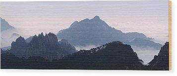 Huangshan Mountain Scene Wood Print by PuiYuen Ng