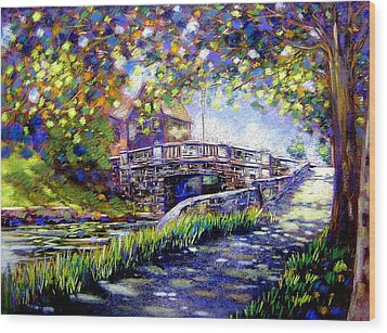 Huband Bridge Dublin City Wood Print by John  Nolan