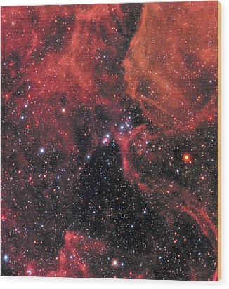 Wood Print featuring the photograph Hubble Captures Wide View Of Supernova 1987a by Nasa