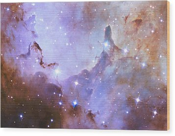 Wood Print featuring the photograph Hubble Space Telescope Celebrates 25 Years Of Unveiling The Universe by Nasa