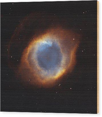 Hubble Telescope Image Of The Helix Wood Print by Nasa