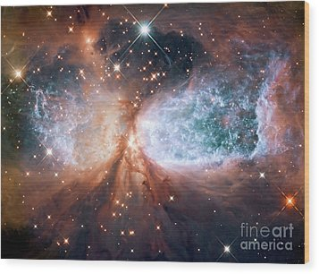 Hubble View Of Star Forming Region S106 Wood Print by Mohamed Elkhamisy