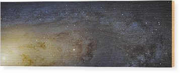 Wood Print featuring the photograph Hubble's High-definition Panoramic View Of The Andromeda Galaxy by Adam Romanowicz