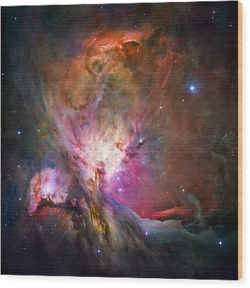 Hubble's Sharpest View Of The Orion Nebula Wood Print