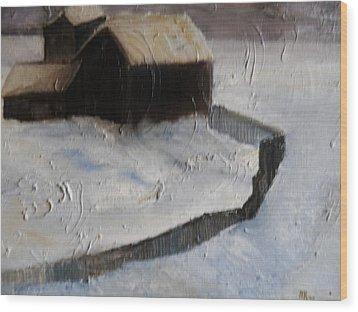 Huddell-up Wood Print