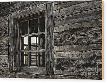 Wood Print featuring the photograph Hudson Bay Fort Window by Brad Allen Fine Art