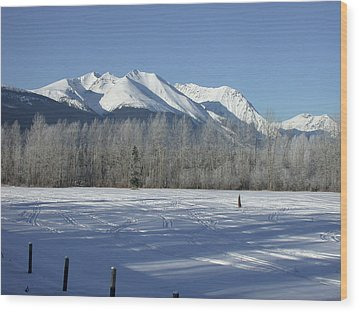 Hudson Bay Mtn Winter View Wood Print