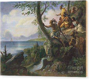 Hudson: New York, 1609 Wood Print by Granger