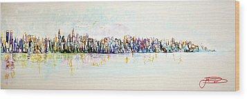 Hudson River View Wood Print