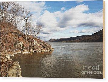 Hudson River View Wood Print by John Rizzuto