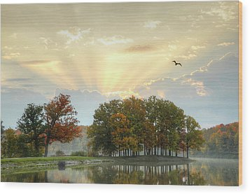 Wood Print featuring the photograph Hudson Springs Morning by Ann Bridges