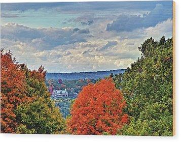 Hudson Valley Hyde Park Ny Wood Print by Don Mennig