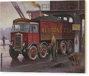 Hudsons Coal. Wood Print by Mike  Jeffries