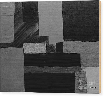 Hues Of Gray Abstract Wood Print