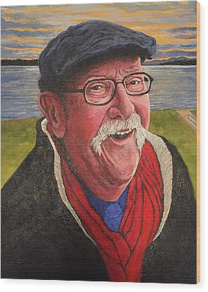 Wood Print featuring the painting Hugh Hanson Davidson by Tom Roderick