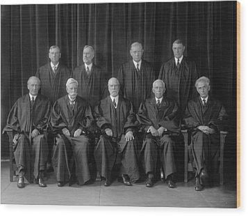 Hughes Court. United States Supreme Wood Print by Everett