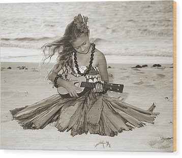 Hula Girl Wood Print by Himani - Printscapes