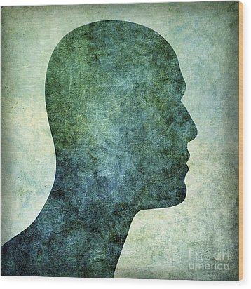 Human Representation Wood Print by Bernard Jaubert