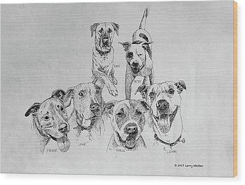 Humane Society Gang Wood Print
