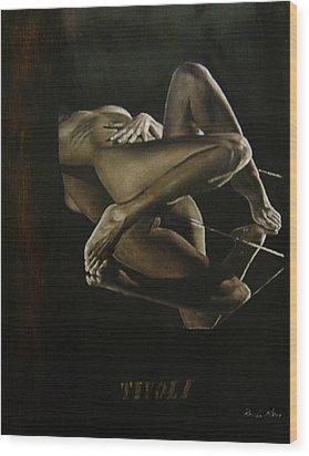 Humanografia 2 Wood Print by Romeo Niram