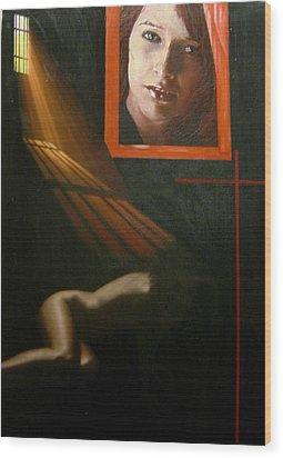 Humanografia 5 Wood Print by Romeo Niram