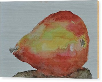 Wood Print featuring the painting Humble Pear by Beverley Harper Tinsley