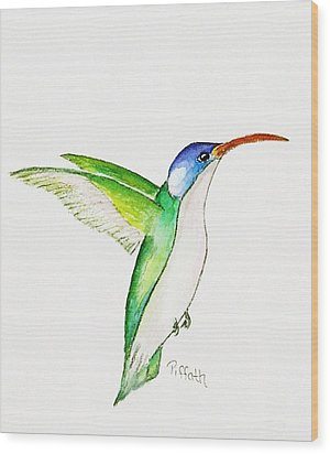 Hummer Wood Print by Patricia Piffath