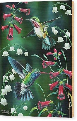 Humming Birds 2 Wood Print by JQ Licensing