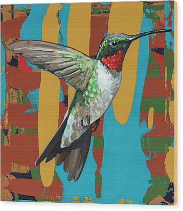 Hummingbird #10 Wood Print by David Palmer