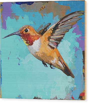 Hummingbird #11 Wood Print by David Palmer