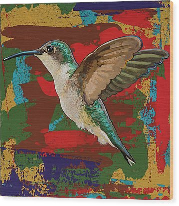Hummingbird #12 Wood Print by David Palmer
