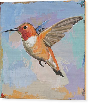 Hummingbird #7 Wood Print by David Palmer