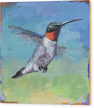 Hummingbird #8 Wood Print by David Palmer