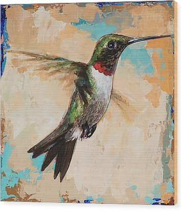 Hummingbird #9 Wood Print by David Palmer
