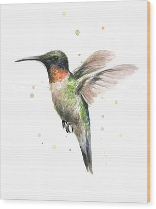 Hummingbird Wood Print by Olga Shvartsur