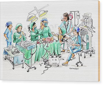 Humorous Surgical Comedy Wood Print