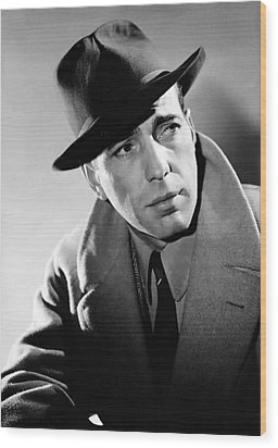 Humphrey Bogart Wood Print by Mountain Dreams