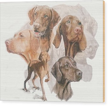 Hungarian Vizsla W/ghost Wood Print by Barbara Keith