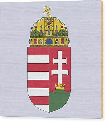 Wood Print featuring the drawing Hungary Coat Of Arms by Movie Poster Prints