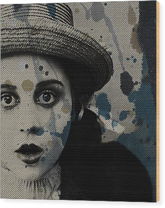 Wood Print featuring the mixed media Hungry Eyes by Paul Lovering
