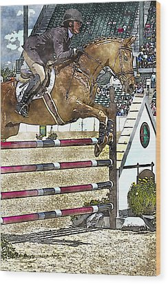 Hunter Jumper Equestrian Wood Print