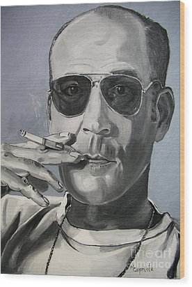 Hunter Thompson Wood Print