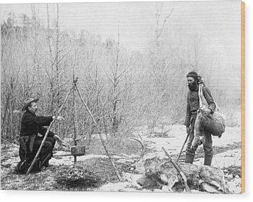 Hunting Camp Winter 1887-88 -- South Dakota Wood Print