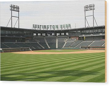 Huntington Park Baseball Field Wood Print by Laurel Talabere