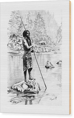 Hupa Fisherman Wood Print by Toon De Zwart