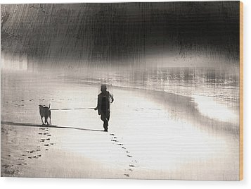 Wood Print featuring the photograph Hurry Home by Gray  Artus
