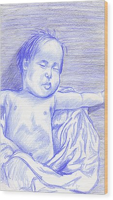 Hush Little Baby Wood Print by Jean Haynes