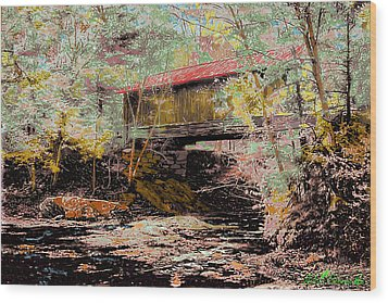 Hutchins' Bridge Wood Print