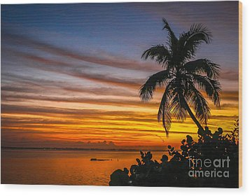 Hutchinson Island Sunrise #1 Wood Print by Tom Claud