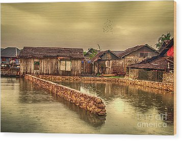 Wood Print featuring the photograph Huts 2 by Charuhas Images